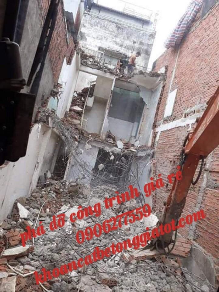 đập phá tháo dỡ nhà cũ tại bình dương giá rẻ 0906 277559