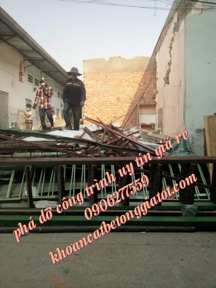 phá dỡ công trình quận 12 giá rẻ 0906277559