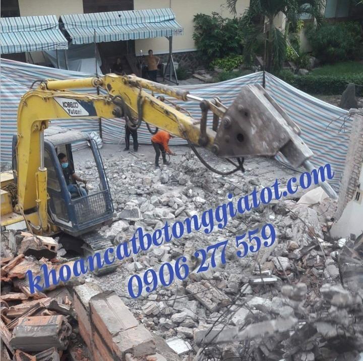 khoan cắt đục phá bê tông khu công nghiệp vsip giá tốt 0906277559