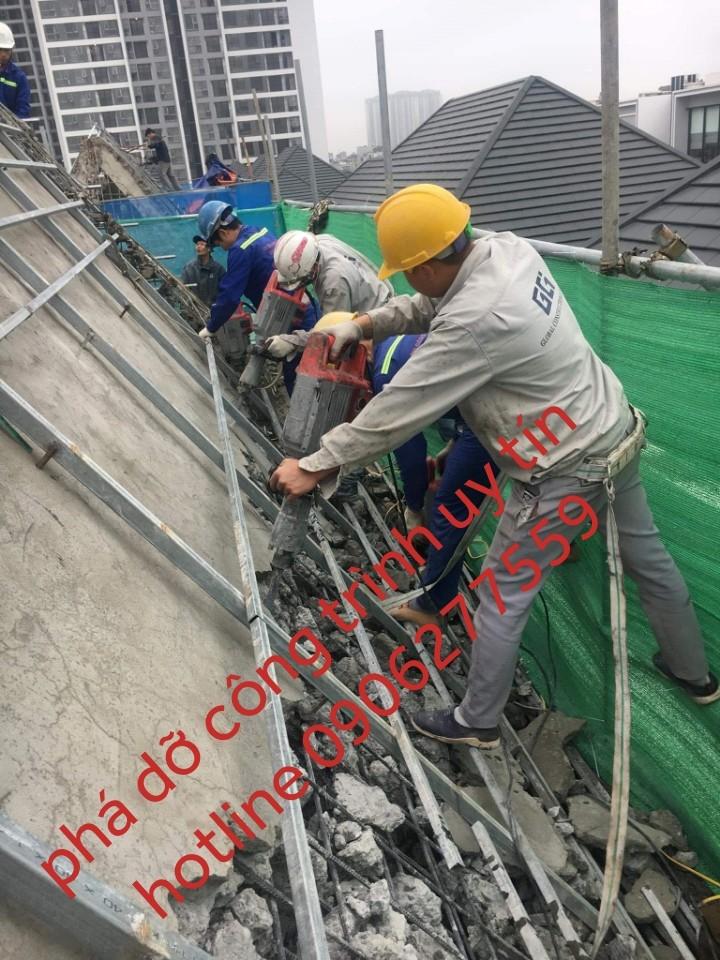 đập phá tháo dỡ công trình tại quận 9 giá tốt 0906277559