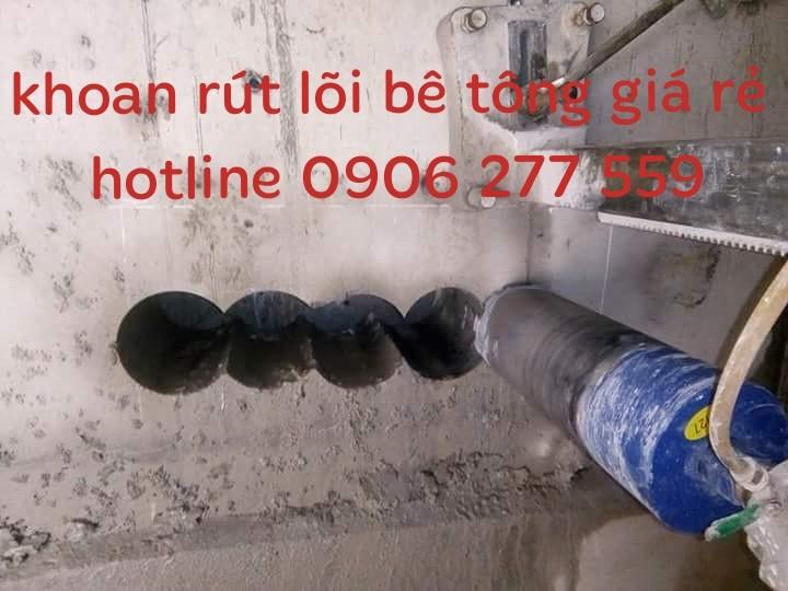 Khoan rút lõi sàn tường bê tông khu công nghiệp vsip bình dương 0906277559