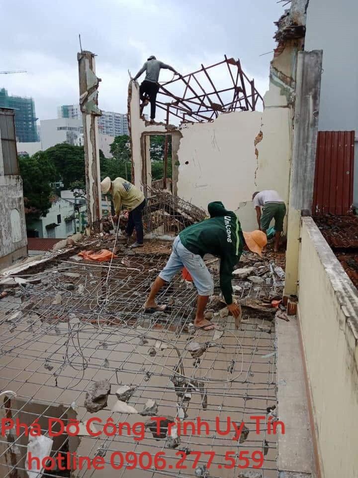 đập phá tháo dỡ nhà công trình quận bình thạnh 0906277559 giá rẻ
